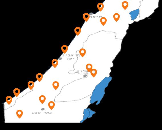 מפת פריסה ארצית